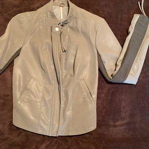 Suede jacket, cotton interior arms